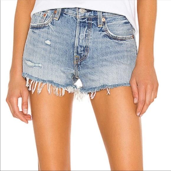 501 cutoff denim shorts, 26